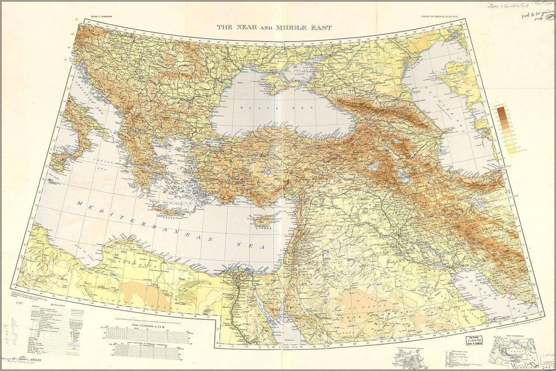 Amazon Com 16x24 Poster War Office Map Middle East Balkans 1940