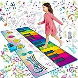 "SUNLIN Giant Floor Piano Mat, 24 Keys Keyboard Play Mat, Jumbo Musical Instrument Toys Gift for Boys Girls Kids Toddlers (71"""