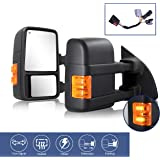 2pcs Towing Mirrors Replacement Fit 1999-2016 Ford F250 F350 F450 F550 Super Duty Truck Pickup Power Tow Mirrors Heated Exten