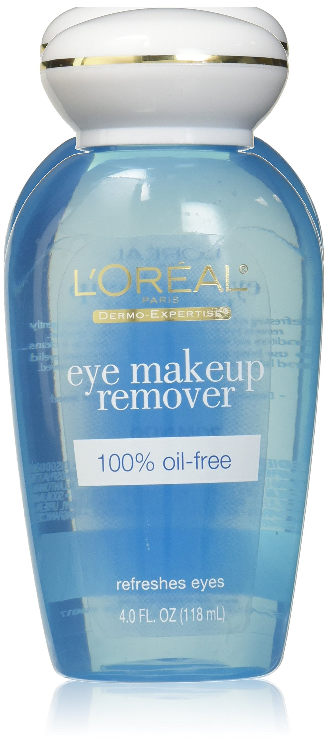 L'Oreal Dermo-Expertise Refreshing Oil-Free Eye Makeup Remover - 4 oz (Pack of 3)