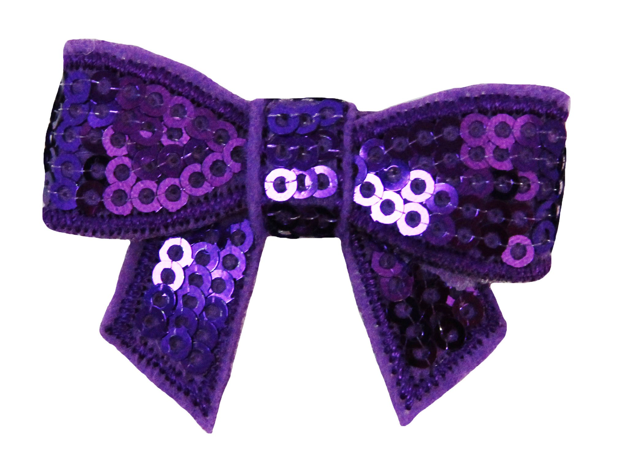 Wholesale Princess Set of (2) Sequin 2'' Hair Bows - 16 Colors to Choose From! (Purple)