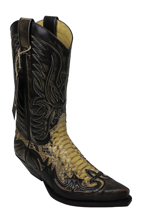 Sendra Stiefel Stiefel 3241 Cowboystiefel 3241 Stiefel Antik Schlangenleder incl. Roy Dunn´s Lederfett und Stiefelknecht ae3b0a