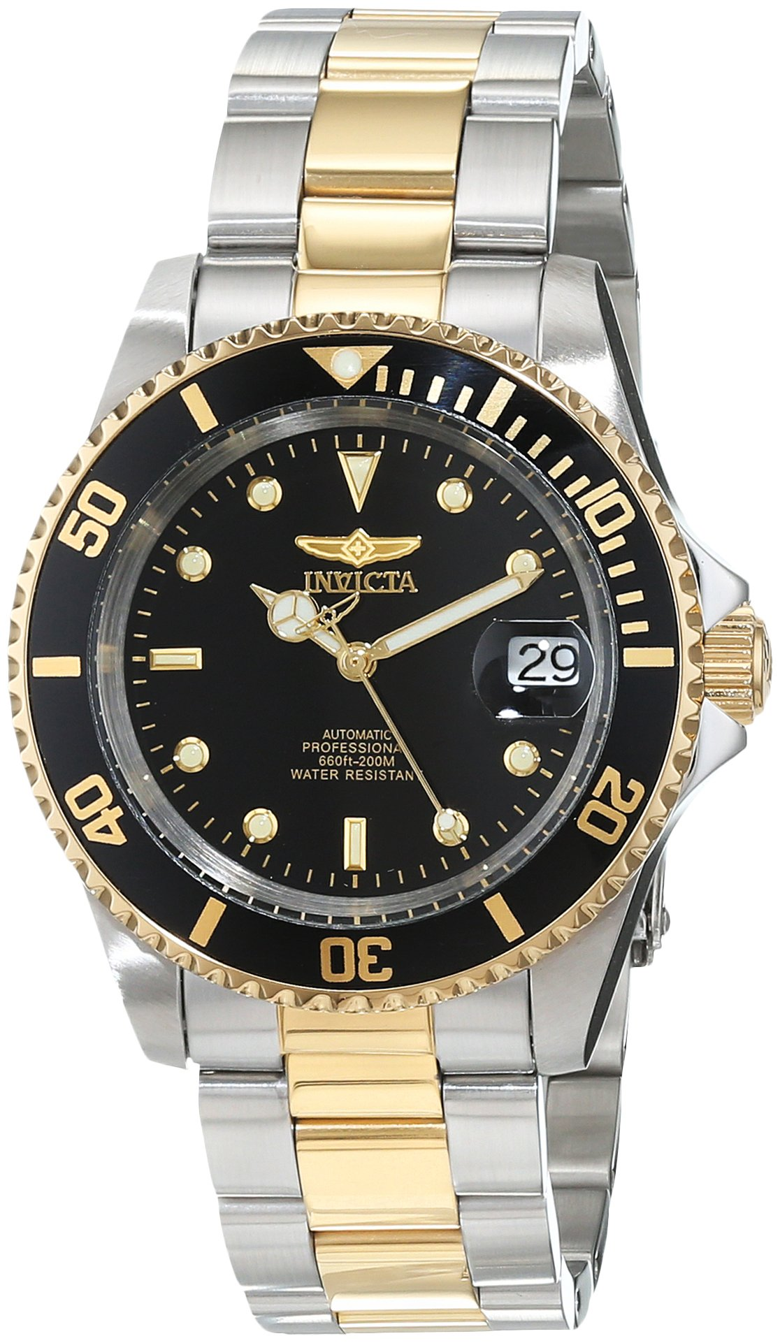 Invicta Men's 8927OB Pro Diver 18k Gold Ion-Plated and Stainless Steel Watch, Two Tone/Black by Invicta