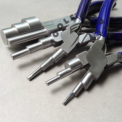 6 en 1 & 3 Paso Wrap N Tap Alicates Jewelry Cables Bail Hacer Herramienta 13