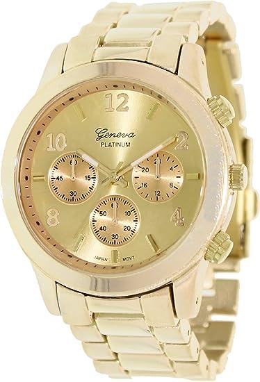 Geneva Platinum 9245.Gold.Gold Mujeres Relojes
