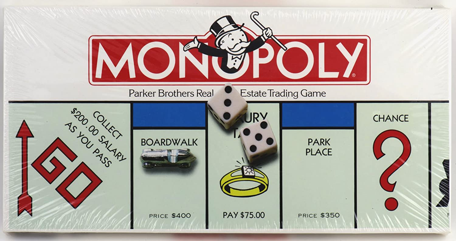 Amazon com monopoly parker brothers real estate trading game toys games