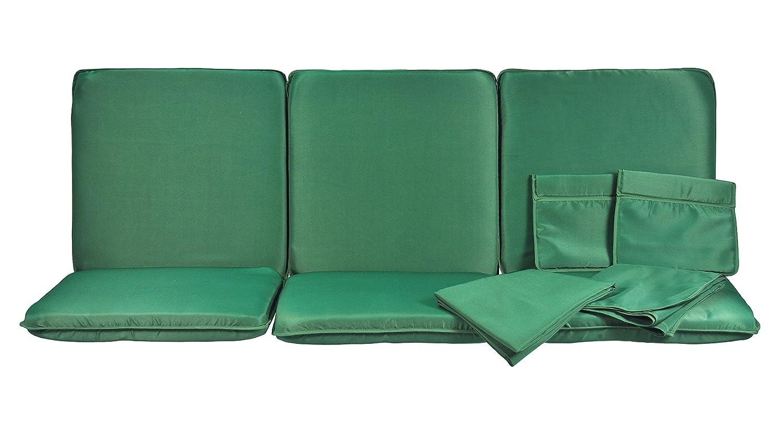 Stiliac 9601T302 Set Cuscini Ricambio, Verde, 174x58x8 cm