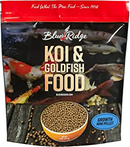 Blue Ridge Fish Food Pellets [5lb] Koi and Goldfish Growth Formula, Mini Floating Pellet, Balanced Diet