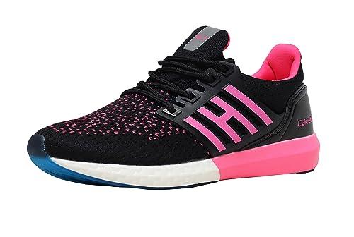 c385692690780e Calcetto Women's Mesh Sports Running Shoes (fs4_4, 4, Black): Amazon ...