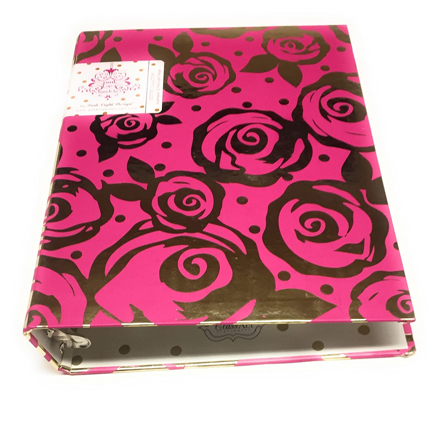 Amazon pink light design 1 mini binder with gold fashion designs by pink light design red arubaitofo Image collections