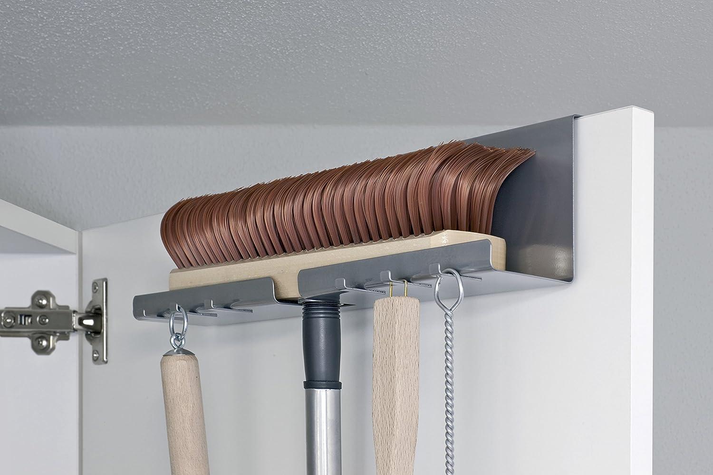 Besen Aufhängen la cuisine 200180122 he besen und schaufelhalter amazon de küche