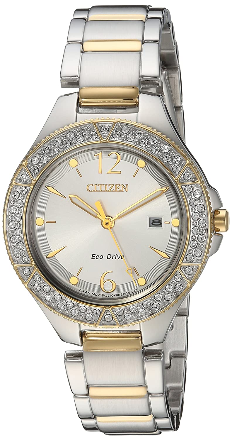 Citizen Women s Eco-Drive Quartz Stainless Steel Casual Watch, Color Two Tone Model FE1164-53A