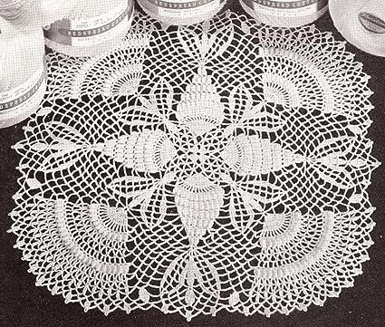 Amazoncom Vintage Crochet Pattern To Make Doily Thread Pineapple