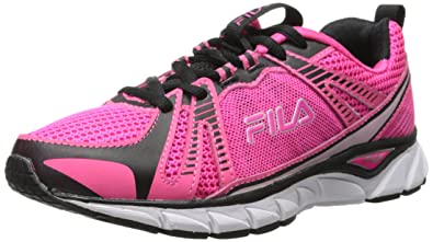 1d1f0f1e6af06 Fila Women's Threshold BC Running Shoe, Pink Glo/Black/White, 7 M US ...