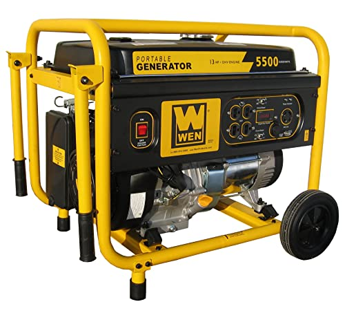 WEN 56551, 5000 Running Watts 5500 Starting Watts, Gas Powered Portable Generator