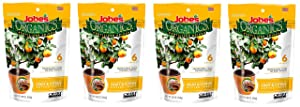Jobe's Organics Fruit & Citrus Tree Fertilizer Spikes, 3-5-5 Time Release Fertilizer for All Container or Indoor Fruit Trees, 6 Spikes per Package (4)
