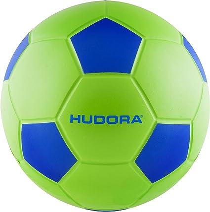 Hudora tamaño 4 – 71693 Soft – Balón de fútbol, Color Verde/Azul ...
