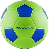 Hudora Taille 4–71693Football Ballon Souple, Vert/Bleu, One Size