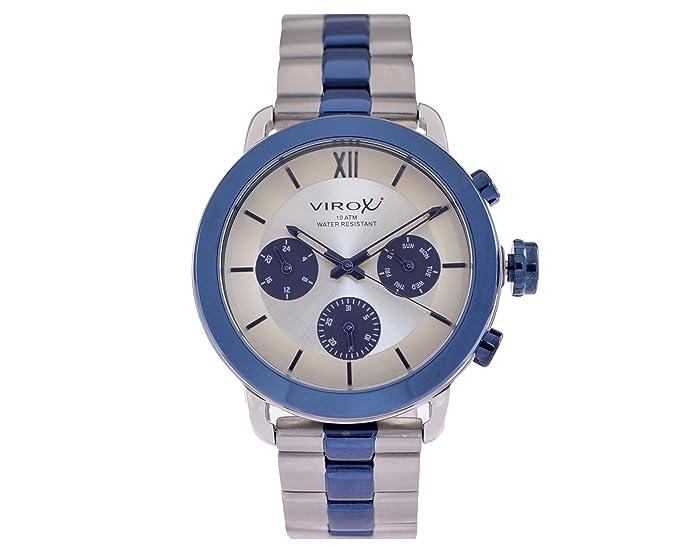virox reloj azul marino azul anillo