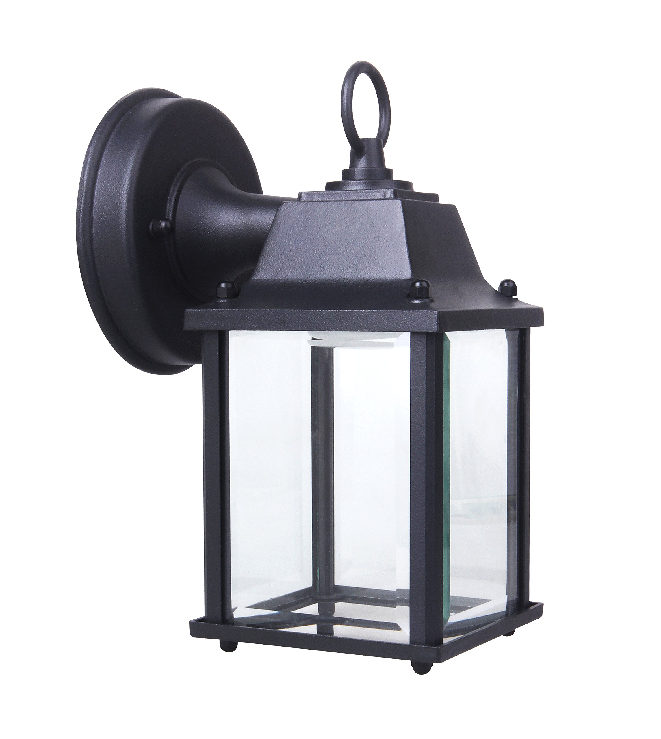 Yeuloum LED Outdoor Wall Lantern Wall Sconce for Porch Light, 9.5W Replace 75W, 800 Lumen, Aluminum Housing Plus Glass, Small Size but Bright