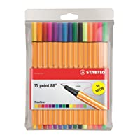 STABILO point88 Fineliner colori assortiti - Astuccio da 15