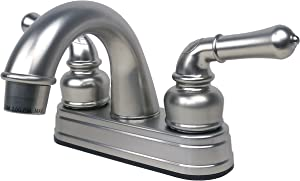 Laguna Brass 2001BN RV Mobile Home Non-Metallic Centerset Lavatory Faucet, Brushed Nickel Finish