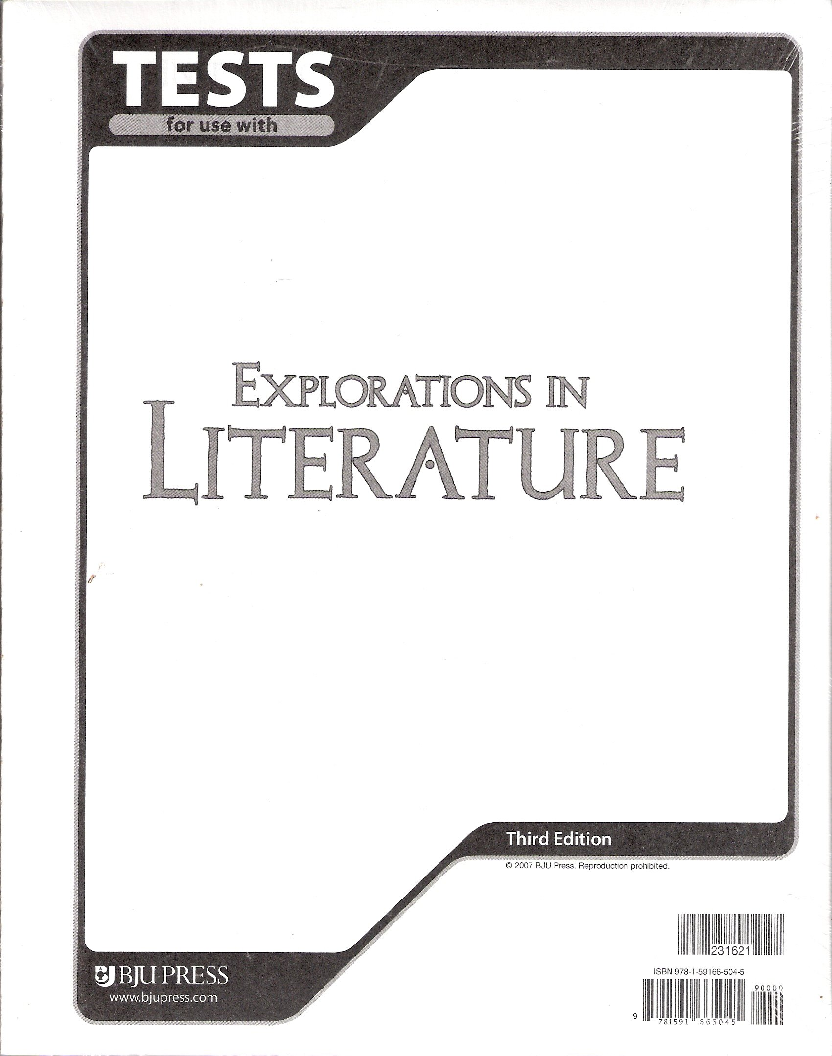Explorations in literature tests booklets bob jones 3rd edition explorations in literature tests booklets bob jones 3rd edition bob jones press 9781591665045 amazon books fandeluxe Choice Image