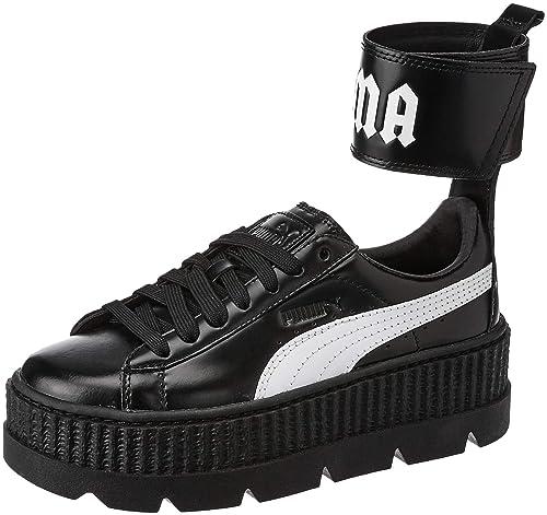brand new ff922 7b98a Puma X Fenty Ankle Strap Creeper Black White Red (37 EU ...