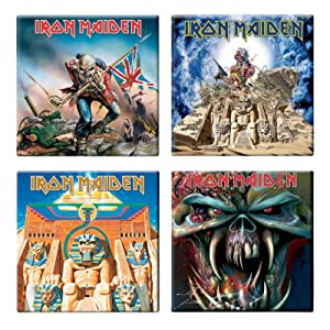 Iron Maiden 4 X Fridge Magnet Albums Final Frontier Various Designs Set