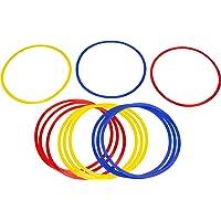 Trademark Innovations Entrenamiento de Velocidad y Agilidad de Anillos (Juego de 12), Multi Color, 45.7cm