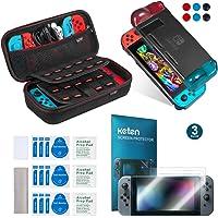 Keten 11-in-1 Nintendo Switch accessoires, inclusief Nintendo Switch draagbare tas/Nintendo Switch hoes/Switch displaybeschermfolie (2 keers)