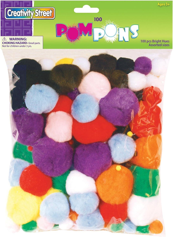 Assorted Size, Creativity Street Acrylic Non-Toxic Pom Pon Classroom Pack