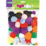 Creativity Street Pom Pons, Assorted Sizes and Colors, Pack of 100