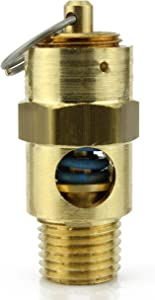 """New 1/4"""" ASME Brass Safety relief Valve 175 PSI American made Compressed air pop off valve"""