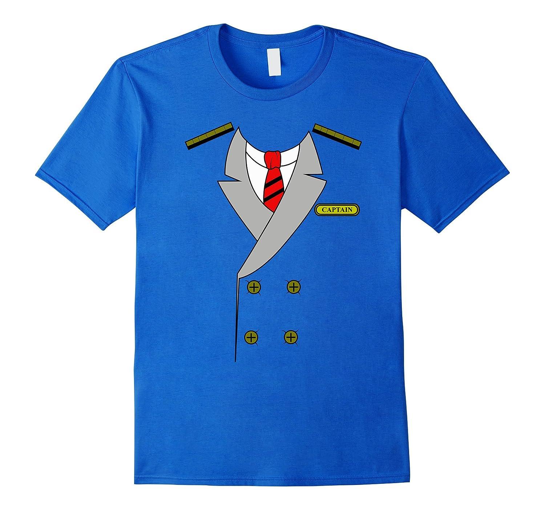 Airplane Pilot Uniform T-Shirt   Halloween Captain Shirt-FL