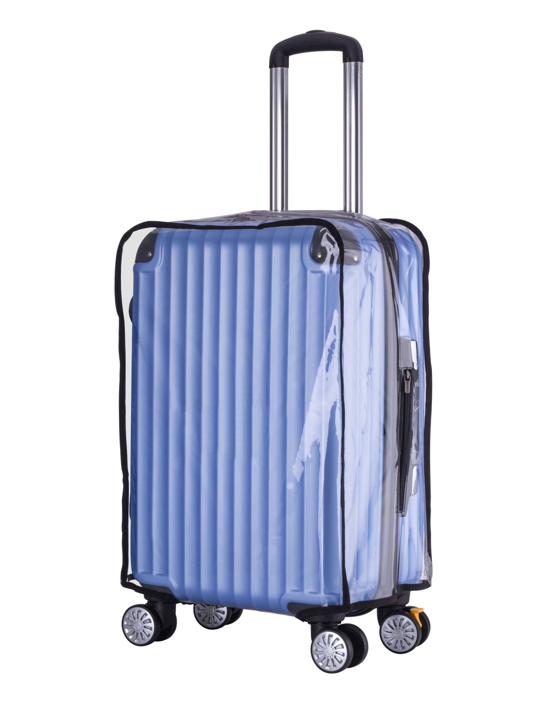 "Holly LifePro Travel Waterproof Luggage Clear PVC Cover Protector Suitcase Fits Most 20'' to 30"" Luggage (26'')"