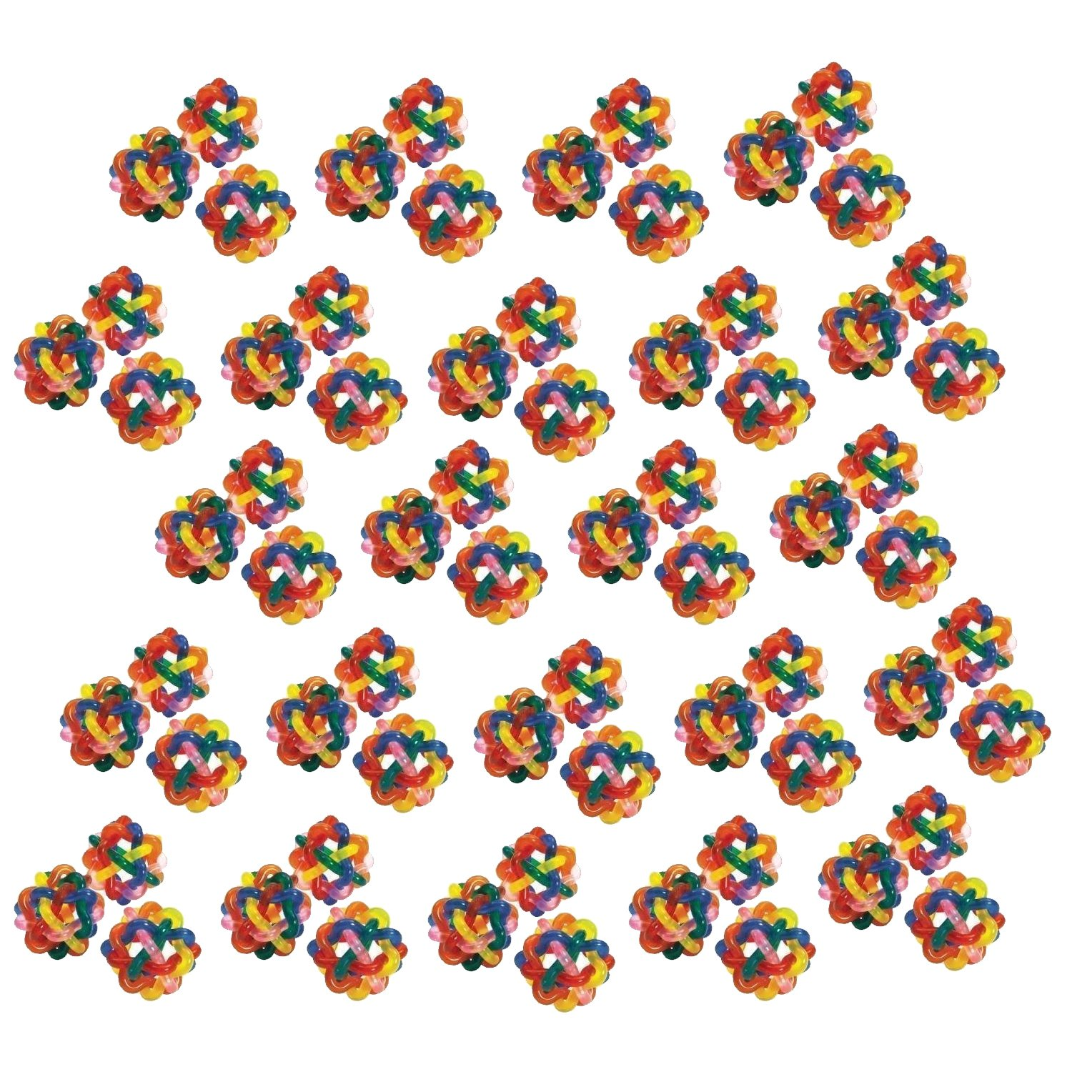 Fun Express Colorful Intertwined Rubber Balls Pack of 12