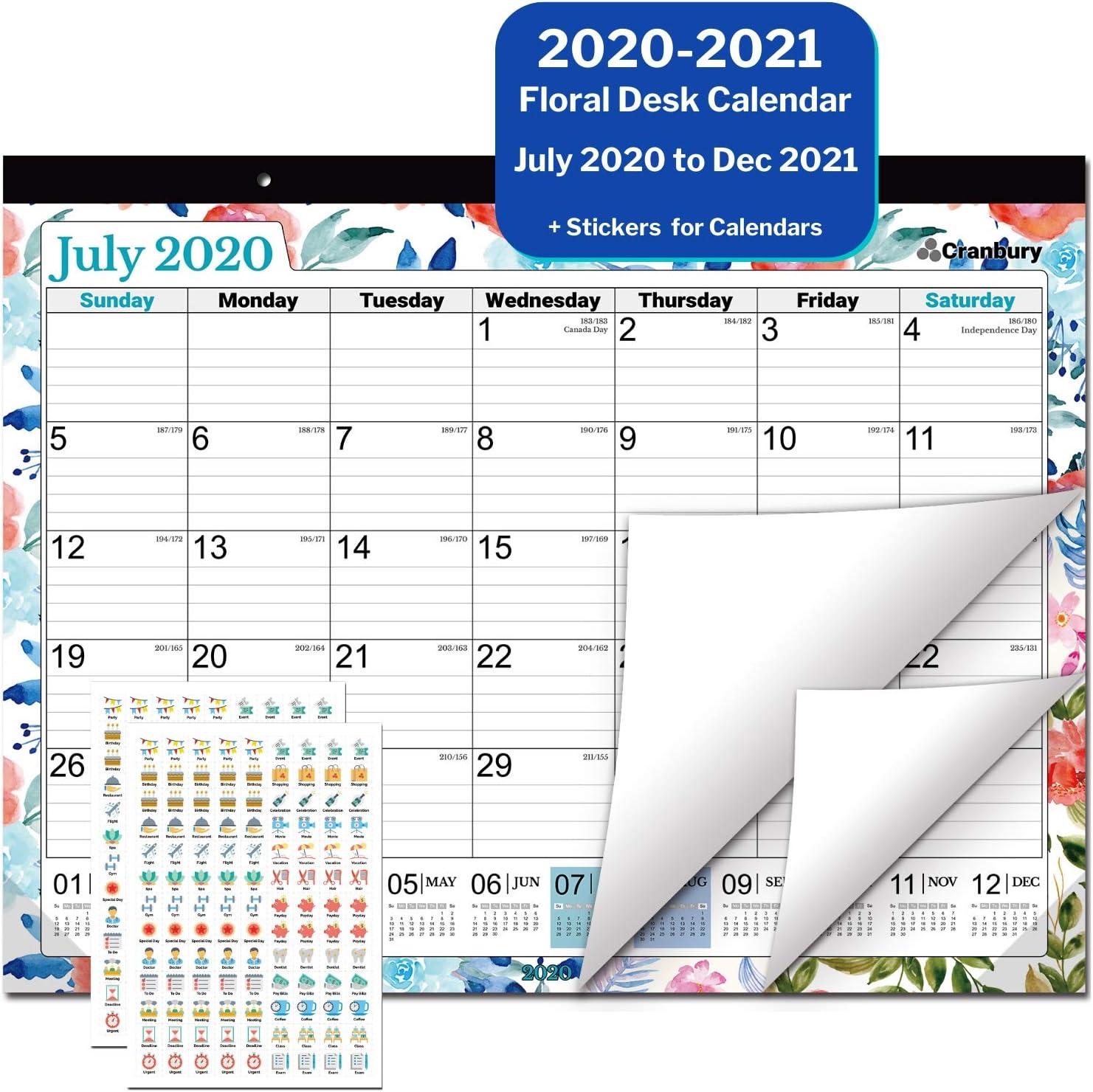CRANBURY Large Calendar 2020-2021 22x17