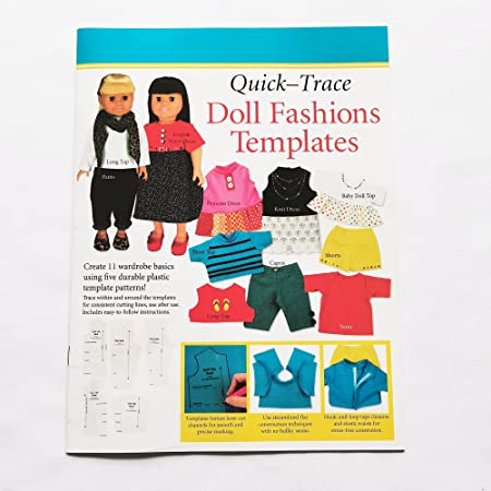 HONEYSEW Quick Trace Doll Fashions Templates for 18