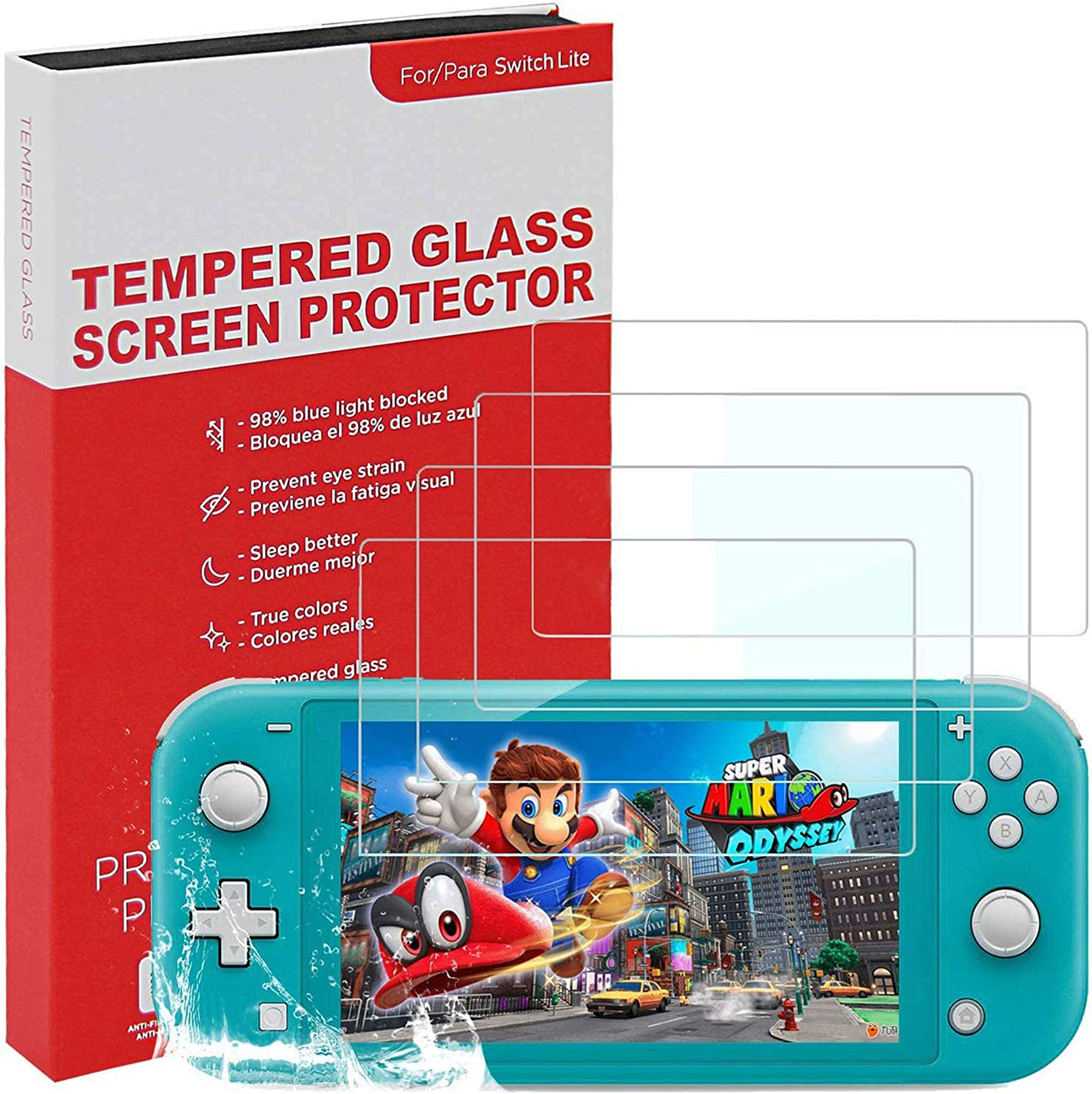 4 Pack Screen Protector for Switch Lite