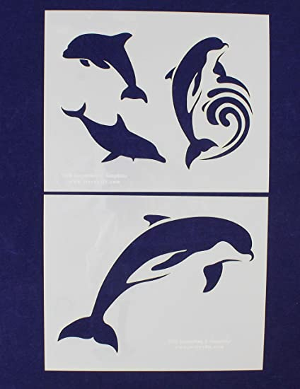 Dolphin and Friends Stencil Reusable 10 mil Mylar Stencil