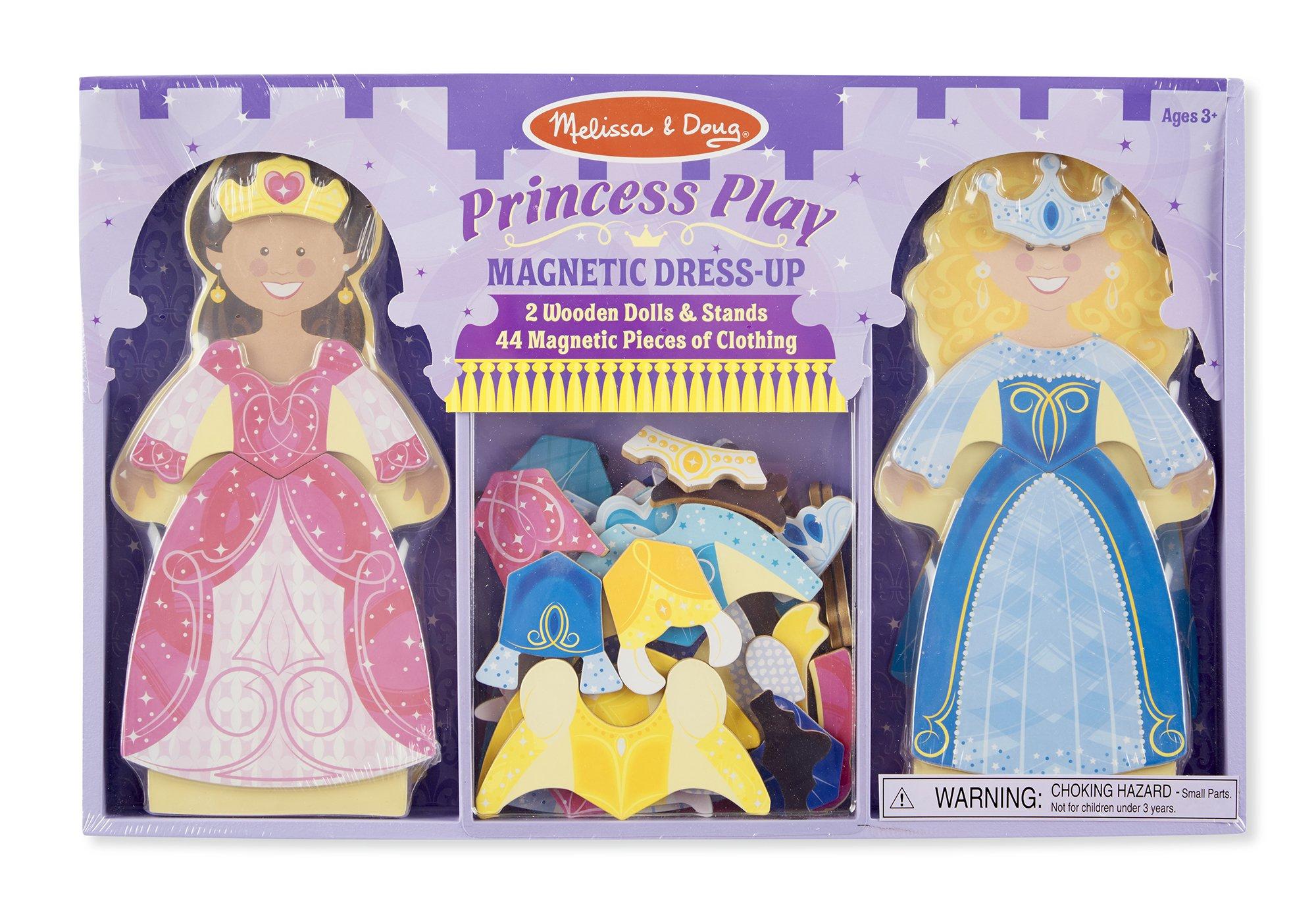 Melissa & Doug Princess Play Magnetic Dress Up Doll