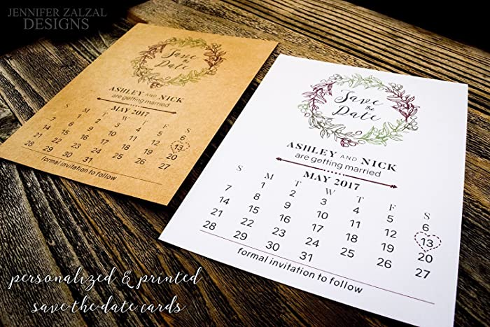 amazon com set of rustic save the date calendar cards
