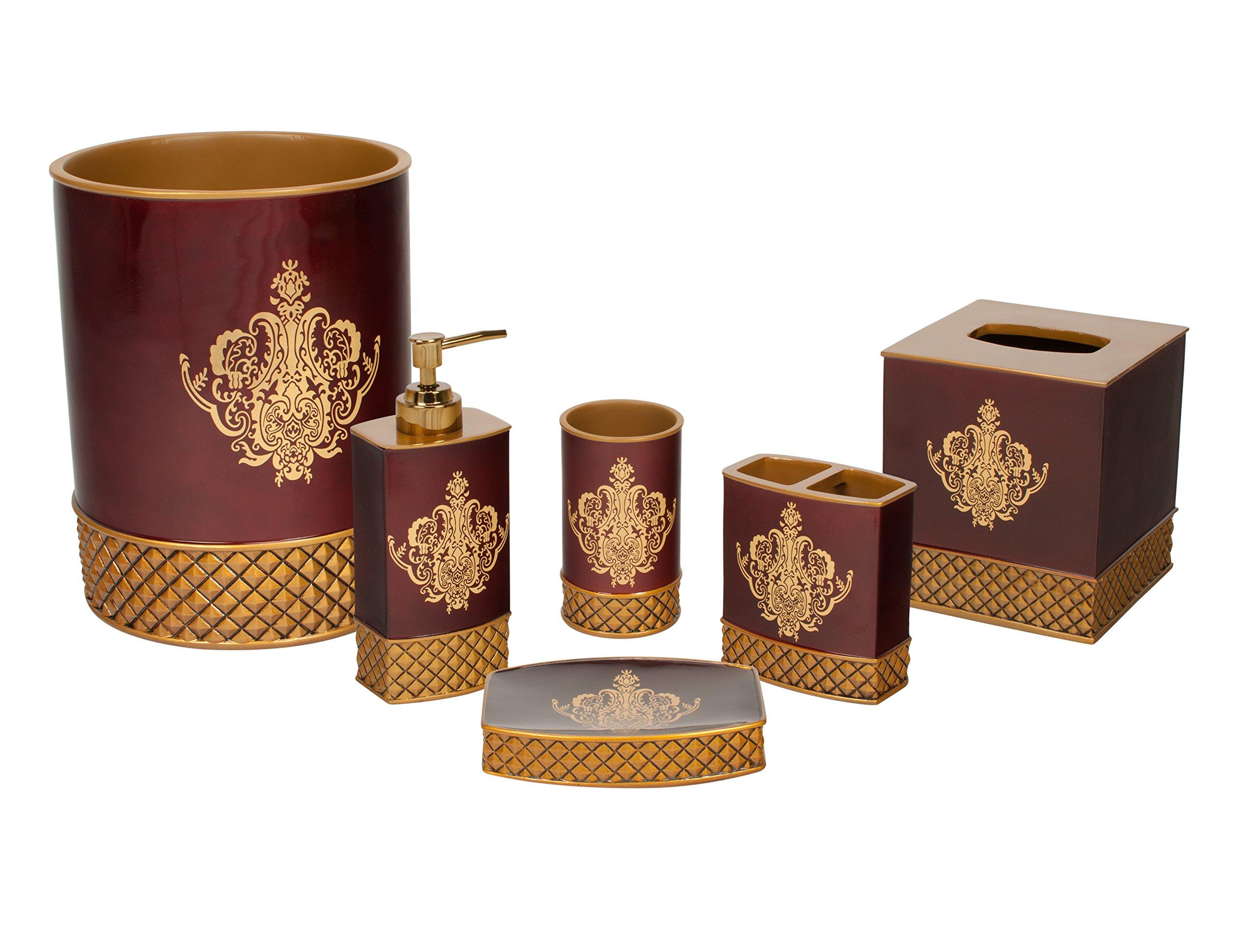 Austin Horn Classics Montecito Red 6-piece Luxury Bath Accessory Set