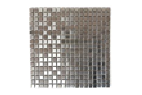 Piastrelle mosaico tessere di mosaico in acciaio inox verniciato