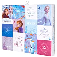 Deals on 12 Pairs Disney Womens Frozen 2 12 Days of Advent Box Socks