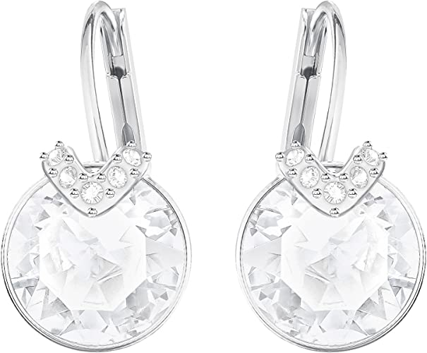 Swarovski Boucles d'oreilles Bella V, blanc, Métal rhodié: Amazon ...