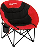 KingCamp Cozy Egg Shape Chaise Lounge Portable Stable Folding Fishing Patio Parties Camping Beach Picnic Chair
