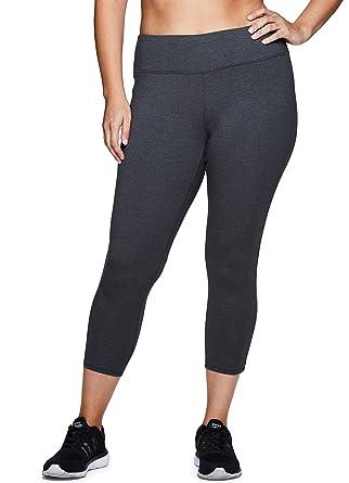 50be88df79 RBX Active Women's Plus Size Cotton Workout Gym Yoga Leggings Charcoal 1X