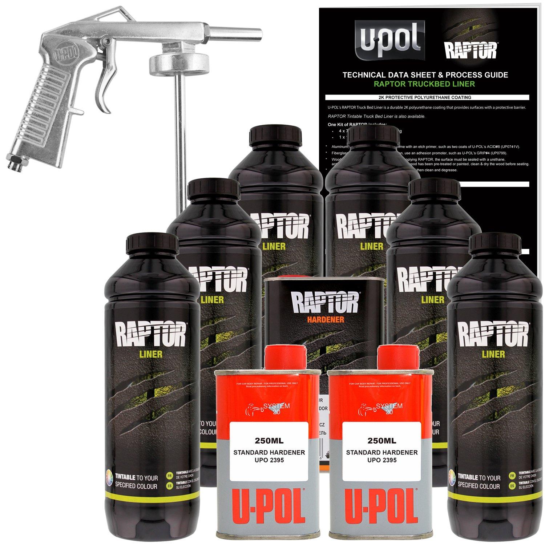 Amazon.com: U-POL Raptor Tintable Urethane Spray-On Truck Bed ...